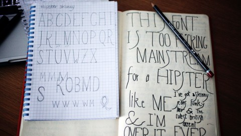 Hipster font - sketches